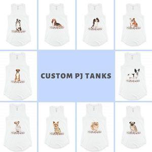 Intimates & Sleepwear - PJ Tank - Tricolor Cavalier King Charles
